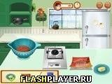 Игра Кулинарный класс Сары - Пицца-бургер - играть бесплатно онлайн