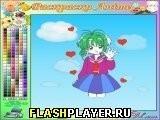 Игра Раскраска anime - играть бесплатно онлайн