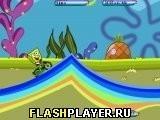 Игра Спанч Боб катается по радуге - играть бесплатно онлайн