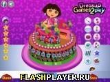 Игра Даша украшает торт - играть бесплатно онлайн