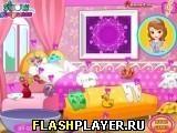 Игра Маленькая принцесса София стирает одежду - играть бесплатно онлайн