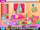 Игра Анна убирает комнату к Пасхе - играть бесплатно онлайн
