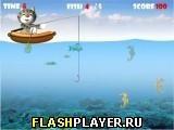 Игра Кот на рыбалке - играть бесплатно онлайн