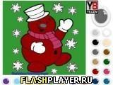 Игра Раскраска снеговика - играть бесплатно онлайн