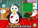 Игра Рождественский  макияж грязного пингвина - играть бесплатно онлайн
