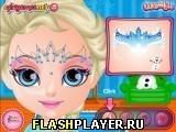 Игра Малышка Барби – морозный рисунок на лице, играть бесплатно онлайн (аркады)