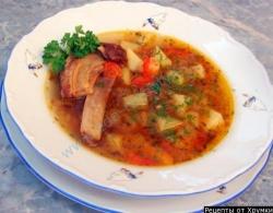 Картофельный суп с грудинкой