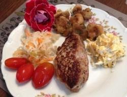 Рецепт Зразы из смешанного фарша с сыром и яйцом с фото