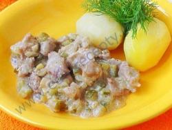 Кулинарный рецепт Курземес строганов с фото