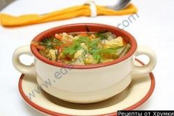 Кулинарный рецепт Франкфуртский овощной суп с фото