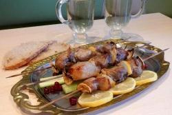 Рецепт Шашлык из свинины с лимоном в аэрогриле с фото