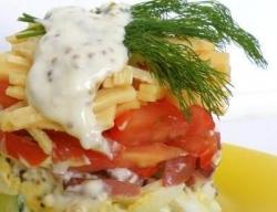 Салат ветчина сыр яйца огурец рецепт с фото