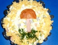 Салат ветчина сыр грибы рецепт