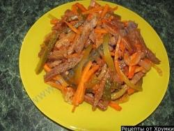 Кулинарный рецепт Охотничий салат с фото
