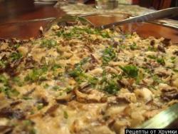 Кулинарный рецепт Яичница с диким рисом и грибами с фото