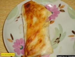 Лаваш с ветчиной и сыром рецепт с фото