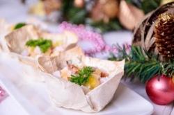 Кулинарный рецепт Праздничные тарталетки из лаваша с фото