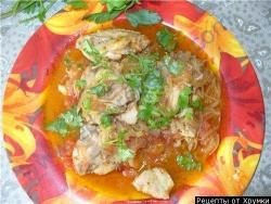 Кулинарный рецепт Чхртма суп из курицы с фото