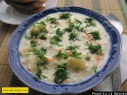 Сырный суп пюре с курицей