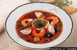 Кулинарный рецепт Солянка с креветками с фото