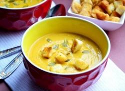 Рецепт Крем-суп из моркови и красной чечевицы с фото