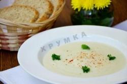 Кулинарный рецепт Белый крем-суп из топинамбура с фото