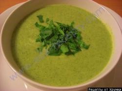 Кулинарный рецепт Крем-суп из брокколи с фото