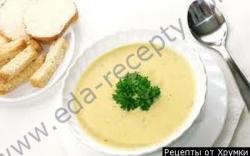 Кулинарный рецепт Сырный суп с сельдереем с фото