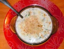 Холодный огуречный суп рецепт с фото