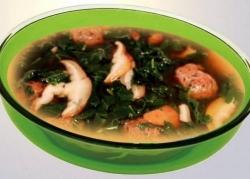 Кулинарный рецепт Суп из лосятины с фото