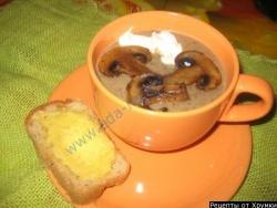 Как приготовить грибной суп пюре рецепт с фото