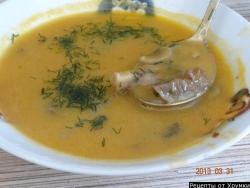 Кулинарный рецепт Грибной суп-пюре с фото
