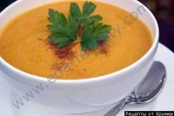 Рецепт Суп пюре из тыквы с арахисовым маслом с фото