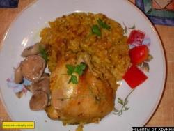 Курица в меде с рисом