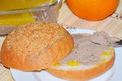 Рецепт Печеночный паштет под апельсиновым желе с фото