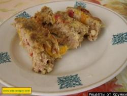 Рулет из куриного фарша рецепт с фото