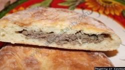 Рецепт Традиционный осетинский пирог с говядиной Фыджин с фото