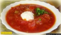 Кулинарный рецепт Борщ с мясом черниговский с фото