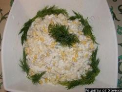 Рецепт Салат из филе курицы, ананаса, кукурузы и риса с фото
