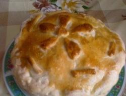 Слоеный пирог Курник с картошкой рецепт с фото