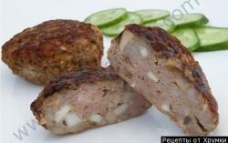 Кулинарный рецепт Биточки говяжьи по-белорусски с фото