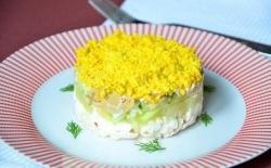 Фиеста Салат курица маринованные грибы рецепт с фото