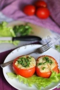 Рецепт Помидоры фаршированные куриным филе и овощами с фото