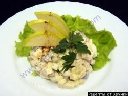 Рецепт Пикантный Салат Рассоле с картофелем говядиной и сельдью с фото