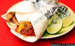 Кулинарный рецепт Буррито с индейкой с фото