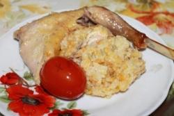 Кулинарный рецепт Утка с рисом с фото