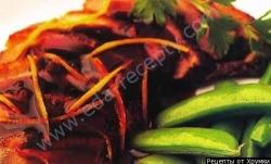 Кулинарный рецепт Утятина в апельсиновом соусе с фото