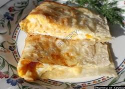 Кулинарный рецепт Лаваш с сыром и яйцом с фото