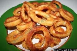Кулинарный рецепт Кальмары в кляре с фото