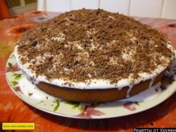 Торт манник шоколадный